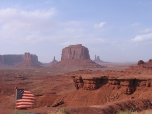 Monument valley & flag