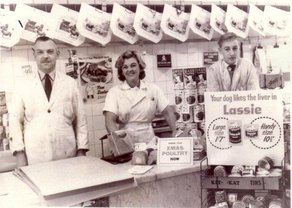 Dad & staff Old Kent Rd shop